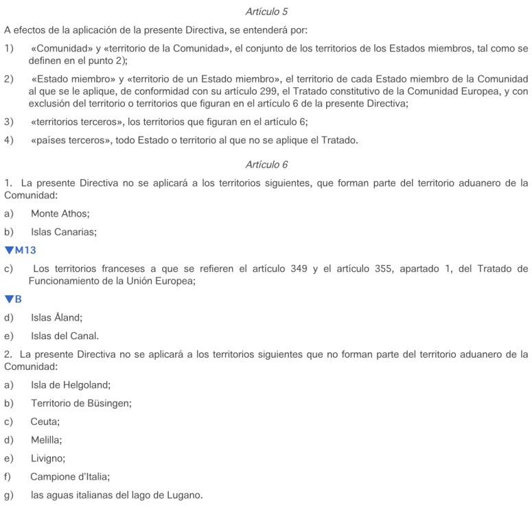 Artículo 5.(1) y (2), Artículo 6.1.(b)